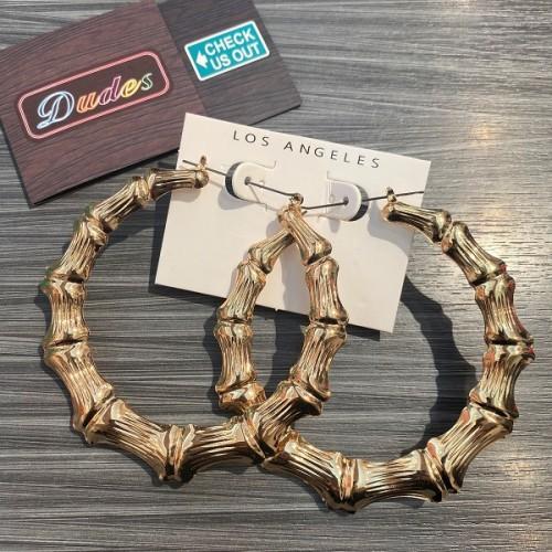 Earrings Golden Bone Circle Ring