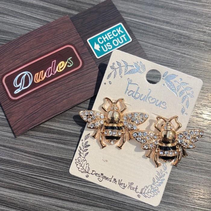 Earrings Golden Bee