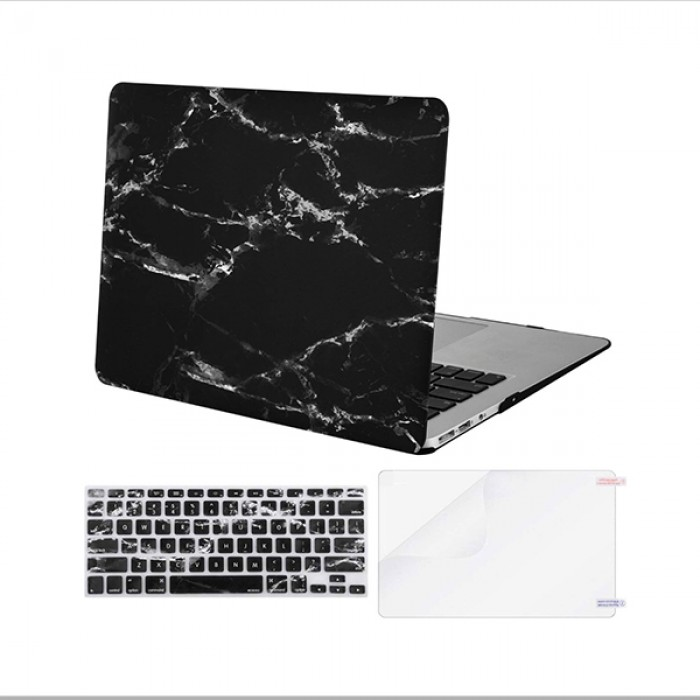 MacBook Case with Keyboard Cover (Black Marble)