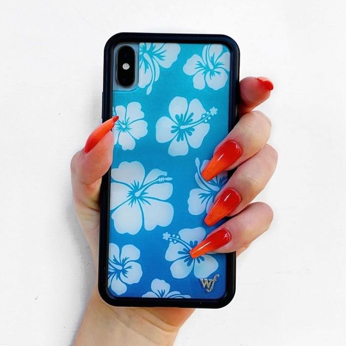 Wildflower Cases Blue Hibiscus iPhone Case