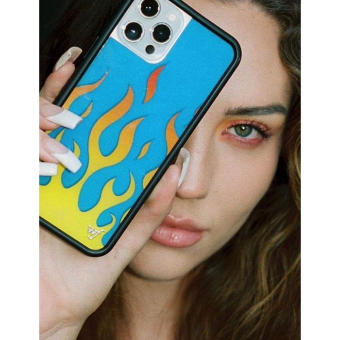 Wildflower Cases Flames Blue iPhone Case