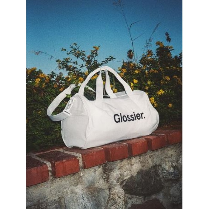 *Limited Editon* Sneaker White Duffel Bag by Glossier *7-10 Biz Days Delivery