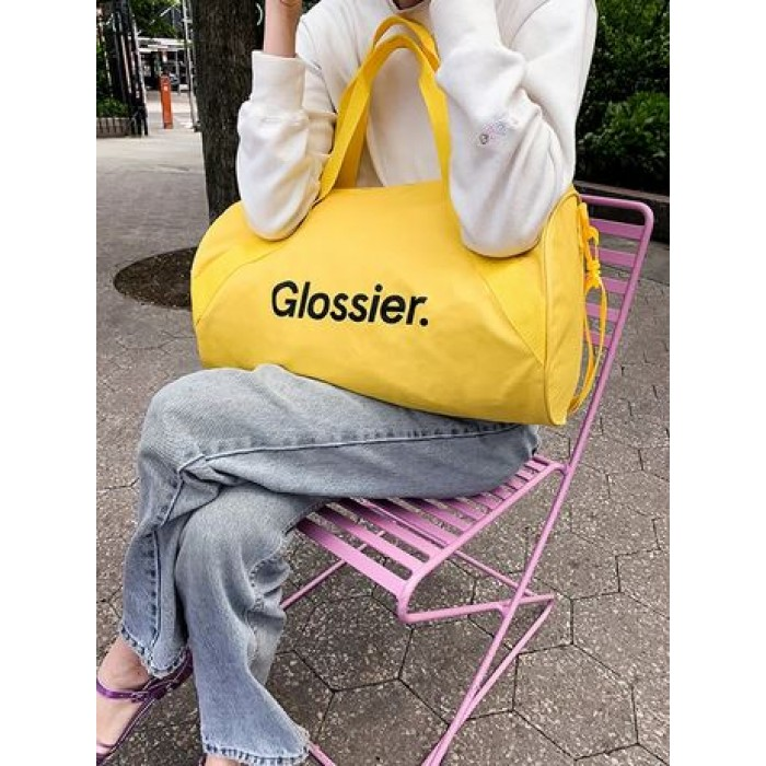 *Limited Edition* Sunshine Yellow Duffel Bag by Glossier *7-10 Biz Days Delivery