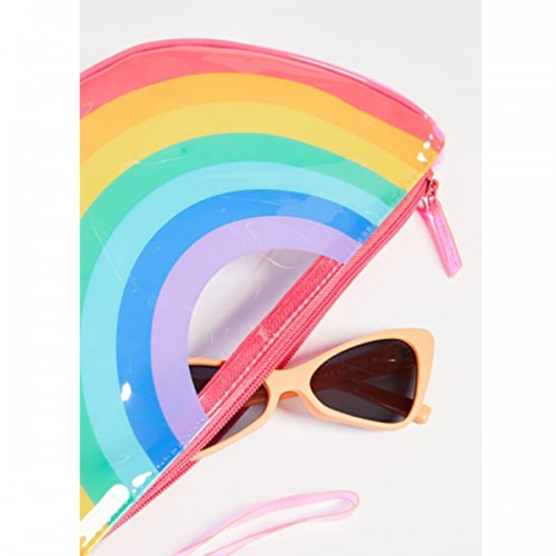 Rainbow See Thru Clutch