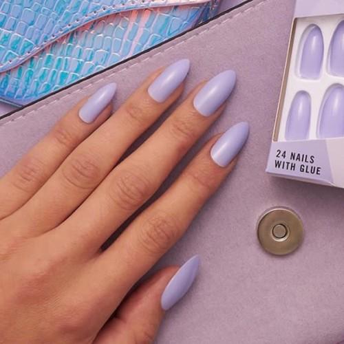 Fake Nail Set with Glue Mauve Madness