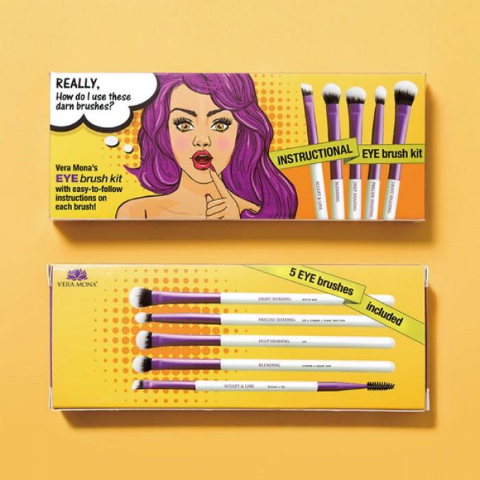 Instructional Eye Brush Kit by Vera Mona