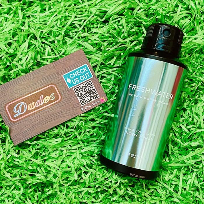 Bath & Body Works Deodorizing Body Spray for Men Freshwater