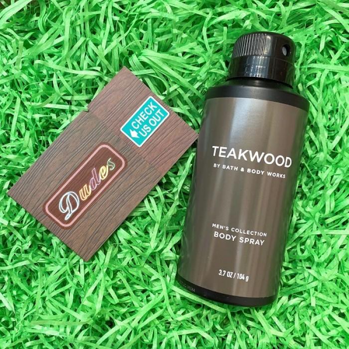 Bath & Body Works Deodorizing Body Spray for Men Teakwood