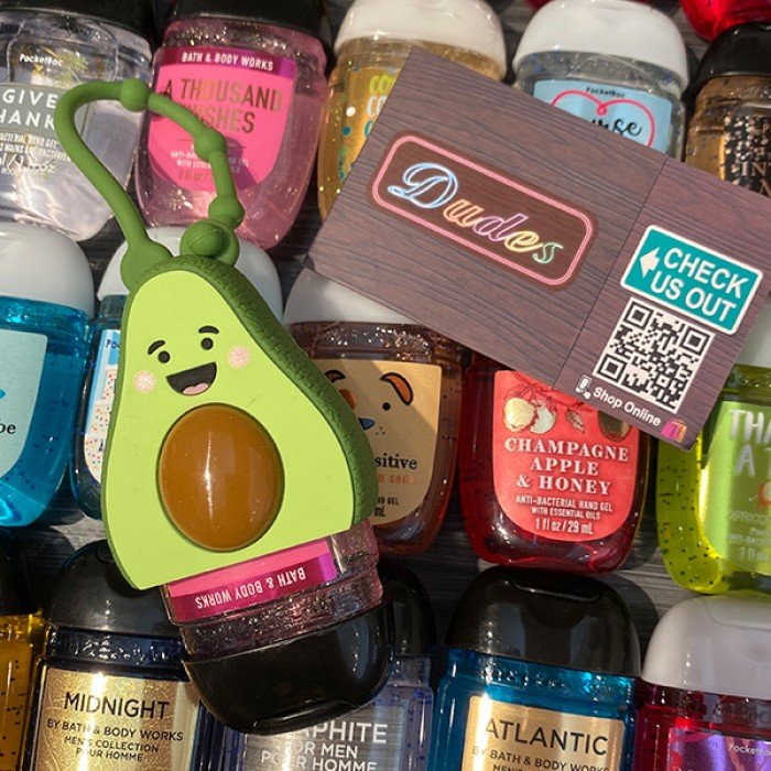 Bath & Body Works PocketBac Hand Sanitizers Holder Avocado (Hand Sanitizer is NOT included)
