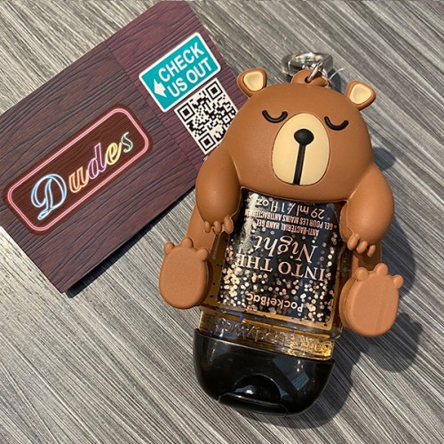 Bath & Body Works PocketBac Hand Sanitizers Holder Snoring Bear (Hand Sanitizer is NOT included)