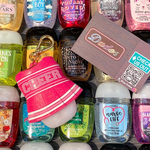 Bath & Body Works PocketBac Hand Sanitizers Holder Cheerleading Uniform (Hand Sanitizer is NOT included)