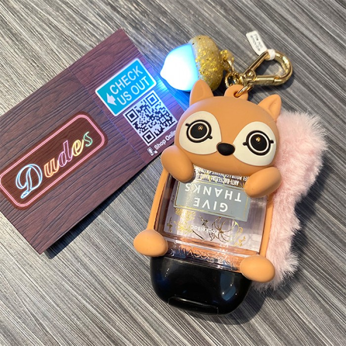 Bath & Body Works PocketBac Hand Sanitizers Light Up Holder Squirrel (Hand Sanitizer is NOT included)