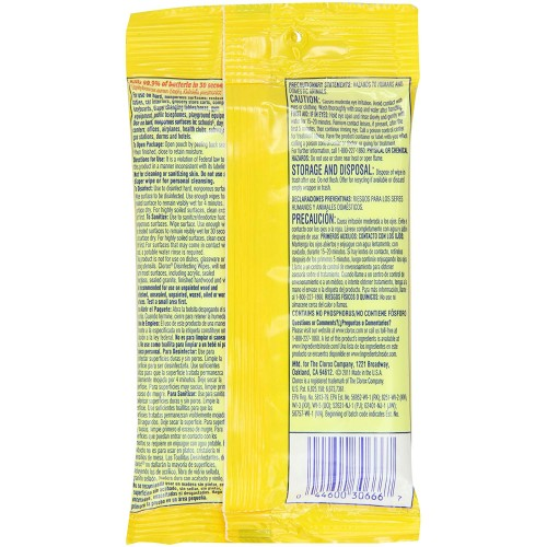 Clorox Disinfecting Wipes Citrus Scent To Go Pack (9 ct)