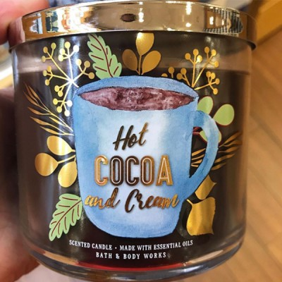 Bath Body Works 3 Wick Candle HOT COCOA CREME