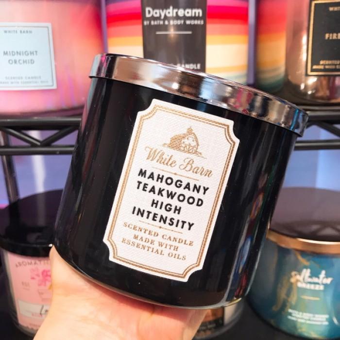 Bath & Body Works 3-Wick Candle Mahogany Teakwood **5-7 Biz Days Delivery