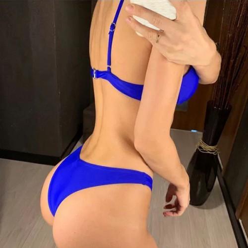 Swimwear Bikini Blue Set
