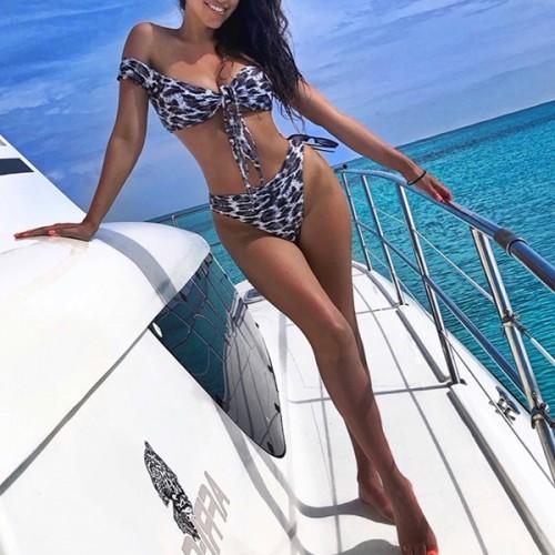 Swimwear Bikini Leopard Set