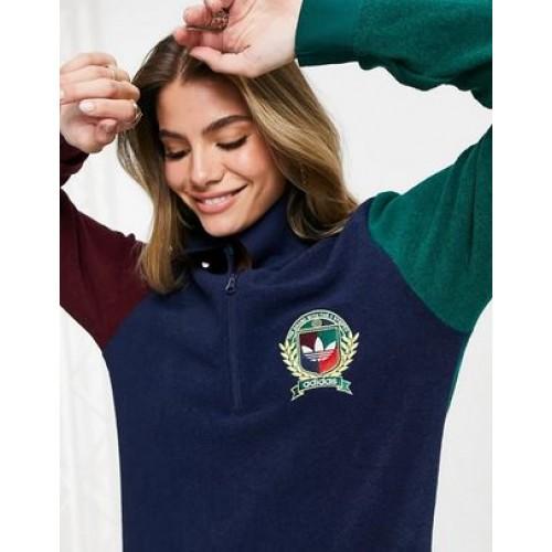 Adidas C Crest Polo Sweatshirt