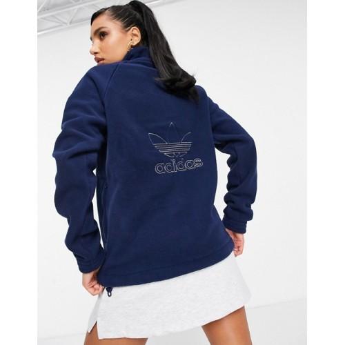 Adidas Original Fleece Sweatshirt Navy