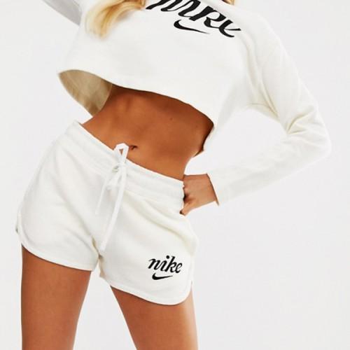 Nike High Waist Runner Shorts White