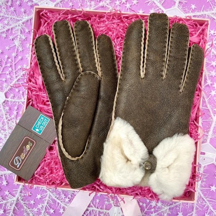 UGG Women Gloves Brown