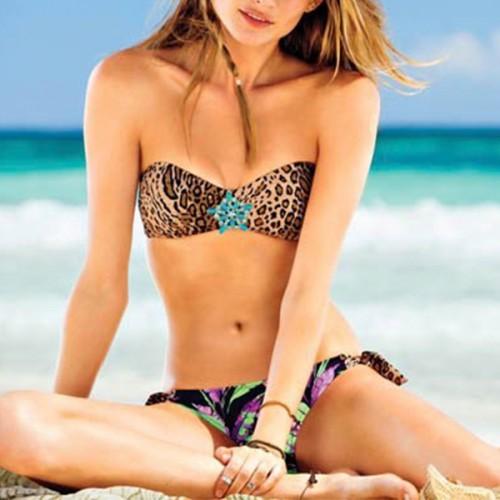 Victoria's Secret Swimwear Leopard Set