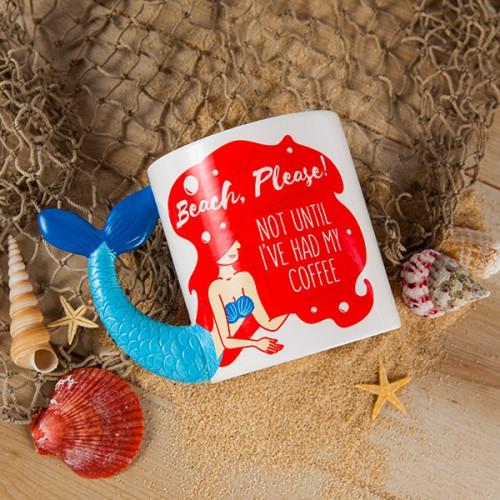 Beach Please Mermaid Mug