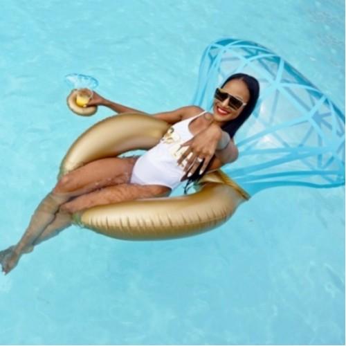 *Giant Bling Ring Pool Float
