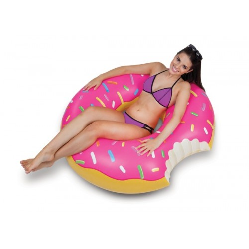 Giant Pool Float Strawberry Donut