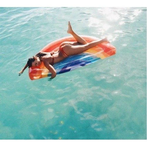 Luxe Lie-On Rainbow Pool Float