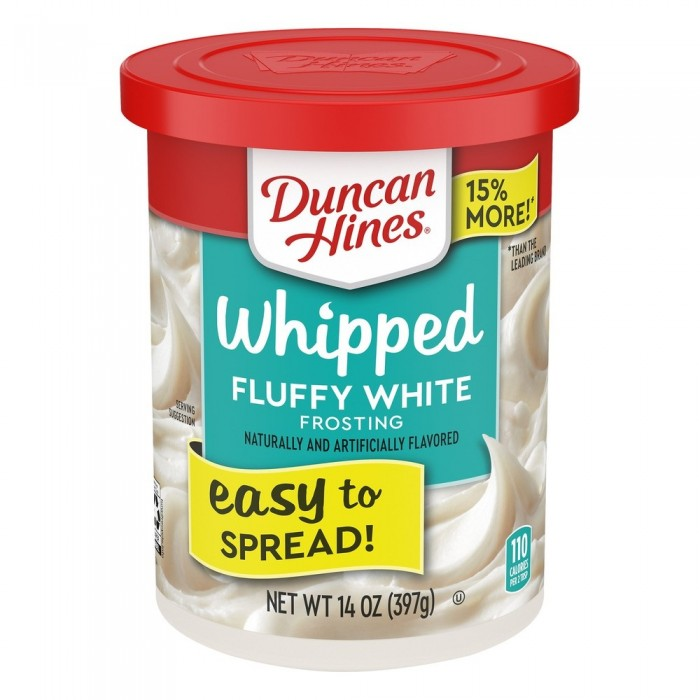 Duncan Hines Whipped Fluffy White Frosting