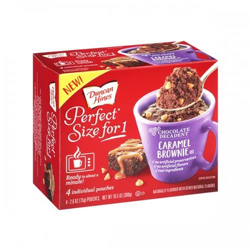 Perfect Size for 1 Caramel Brownie Mug Cake Mix