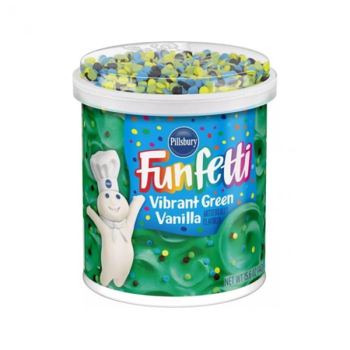 Pillsbury Funfetti Vibrant Green Vanilla Frosting
