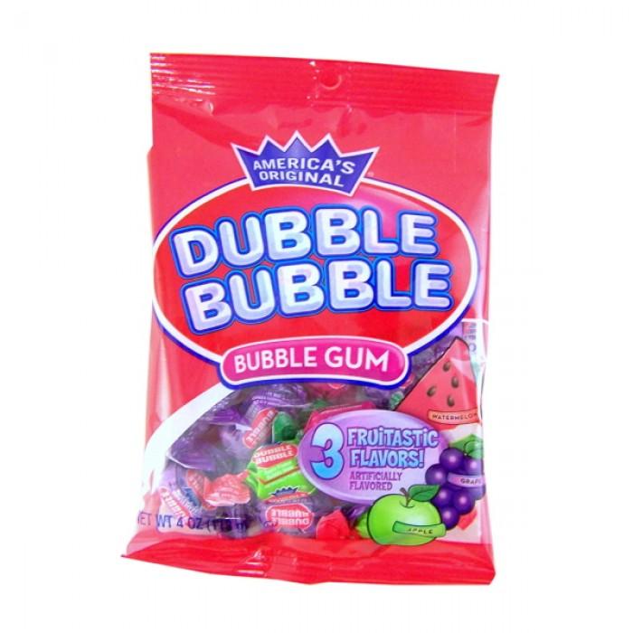 Dubble Bubble Gum Balls Assorted Fruit Flavored Bag