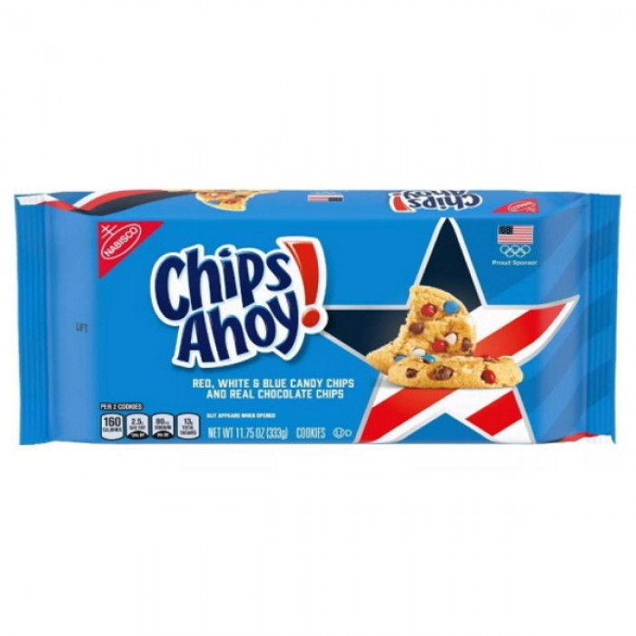 Chips Ahoy Red White & Blue Candy Chips Cookies