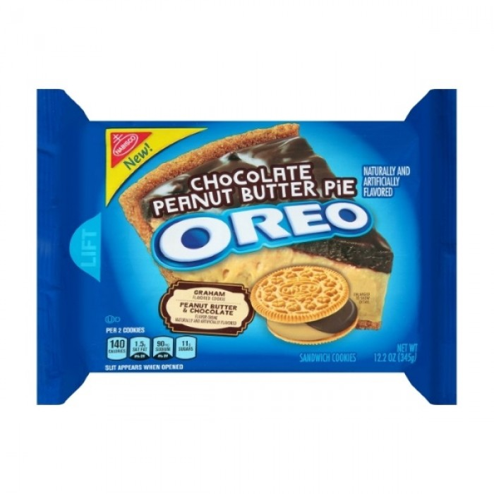 Oreo Chocolate Peanut Butter Pie Creme Cookies (Family Size)
