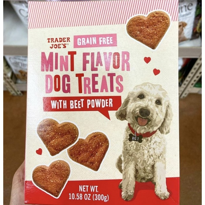Dog Treats - Grain Free Mint Flavor with Beet Powder by Trader Joe's