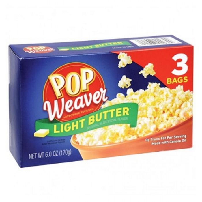 Pop Weaver Microwave Popcorn Light Butter (3 ct)