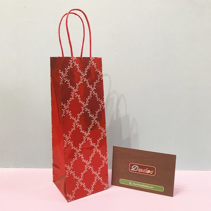 Gift Bag Wine Red
