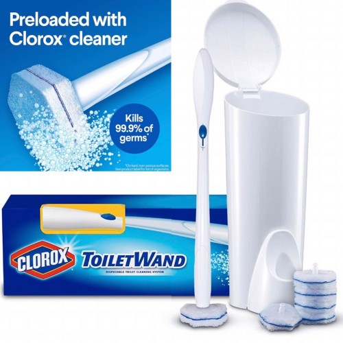 Clorox ToiletWand Disposable Toilet Cleaning System with 6 Refills