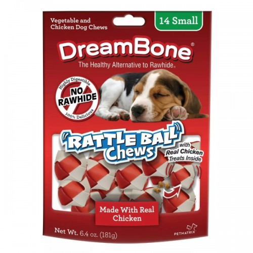 DreamBone Rattle Balls Chews Chicken Dog Treats