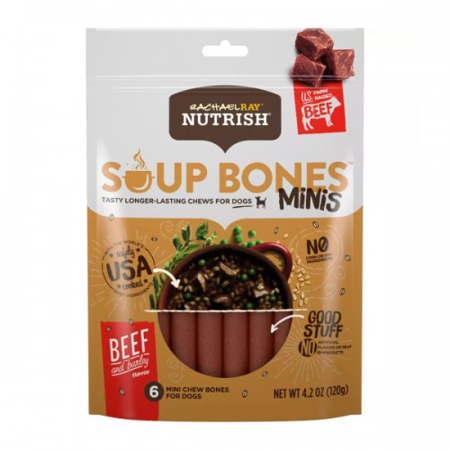 Soup Bones Beef & Barley Dog Chew Bones Minis
