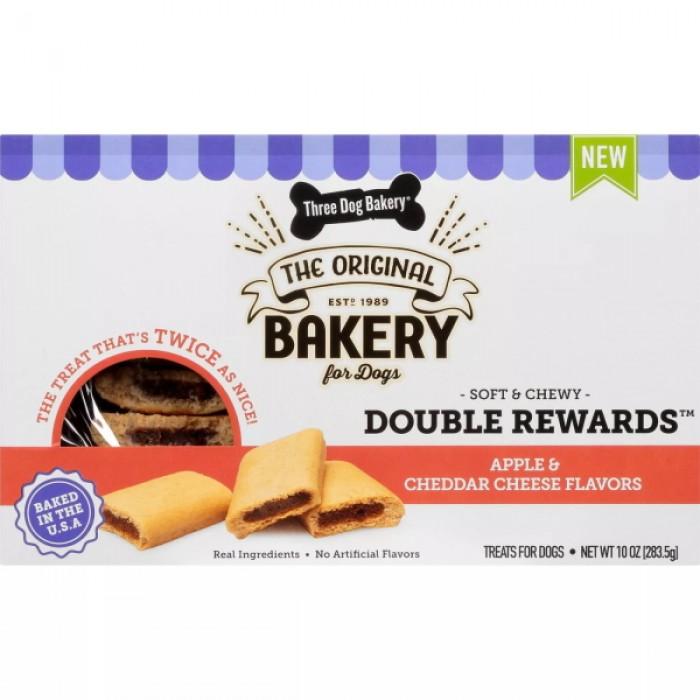 Three Dog Bakery Double Rewards Apple & Cheddar Cheese Dog Treats