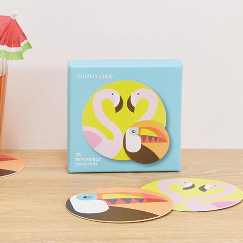 Flamingo & Toucan Coasters