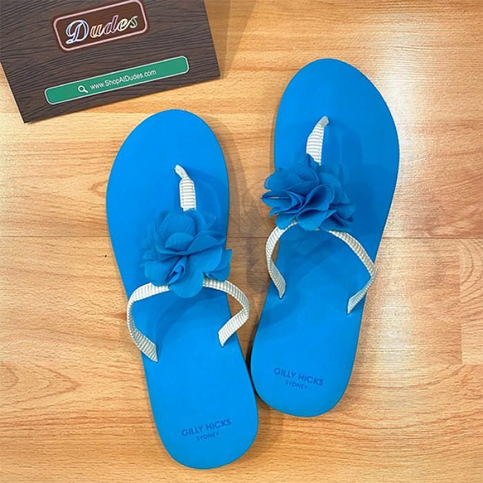 Gilly Hicks Blue Flower Flip Flop (S)