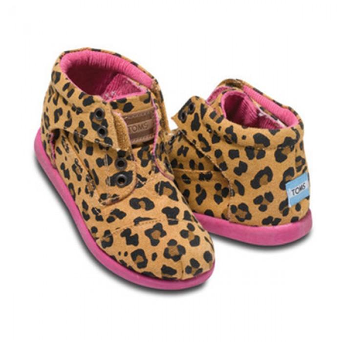 TOMS Leopard Botas Kids Tiny Shoes