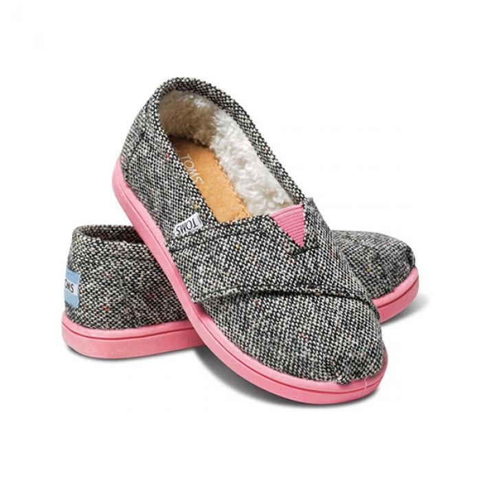TOMS Silver Karsen Classics Kids Tiny Shoes