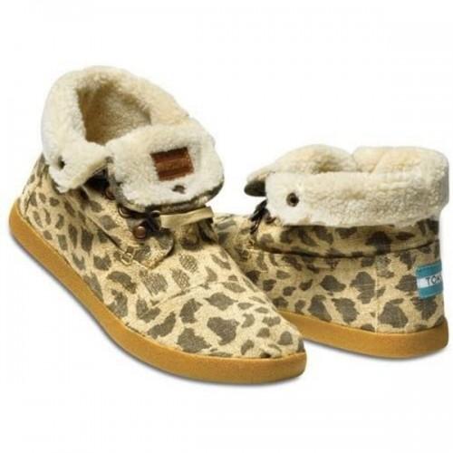 TOMS Leopard Burlap Women's Highlands Botas
