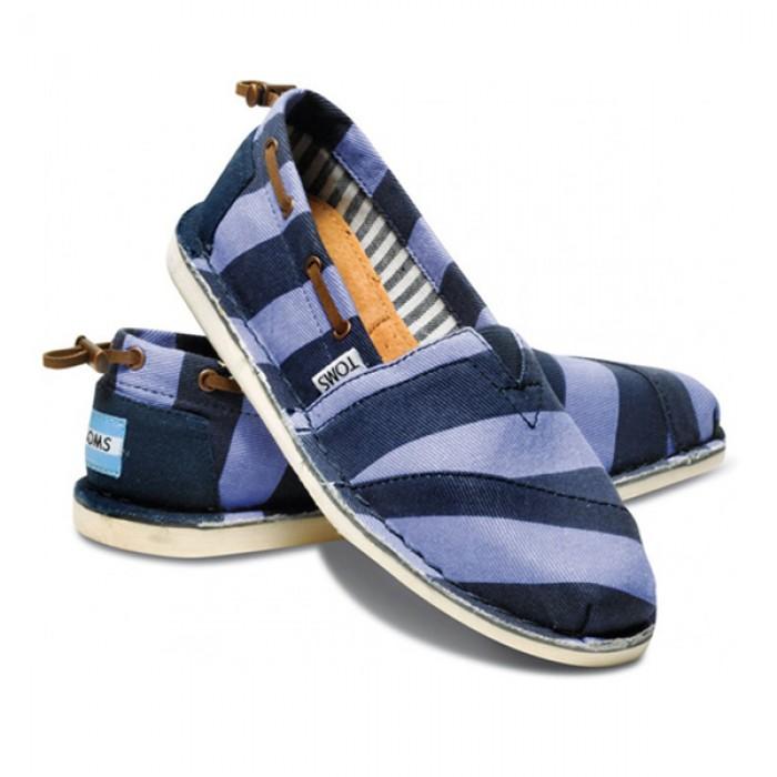 TOMS Blue Stripe Denim Twill Women's Bimini Stitchout