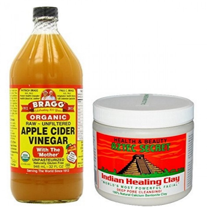 Indian Healing Clay by Aztec Secret + Organic Apple Cider Vinegar COMBO SET (Save HK$39)